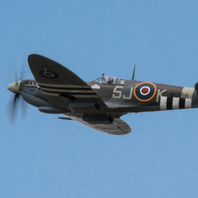 """Invasion stripes - Spitfire"" stock image"