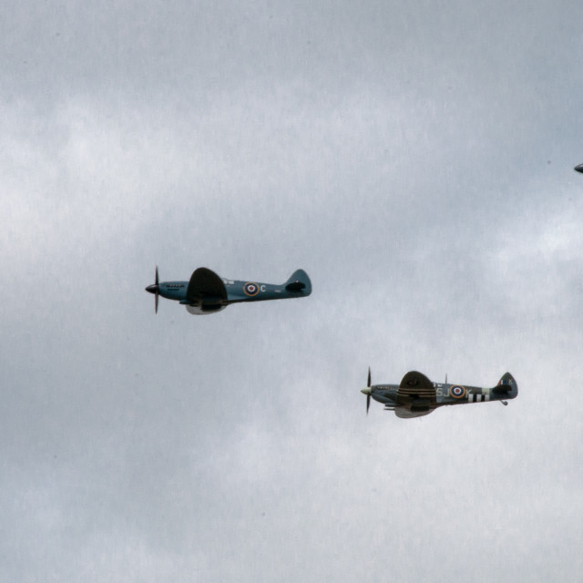 """Three Spitfires"" stock image"