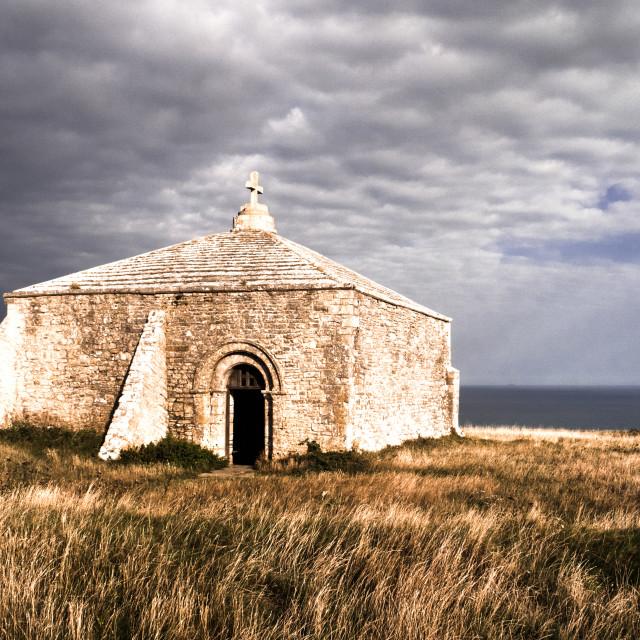 """St. Adhelms Chapel, Dorset"" stock image"