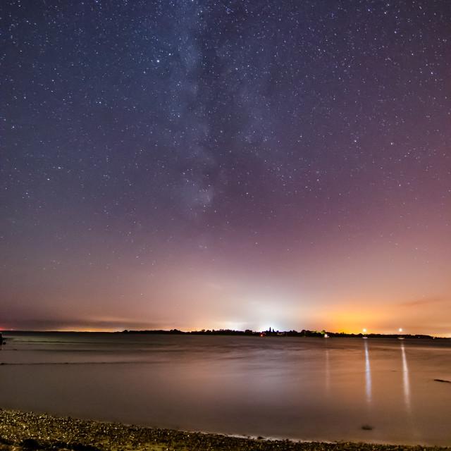 """""""Milky Way over Mersea"""" stock image"""