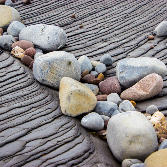 """Pebbles on Slate"" stock image"