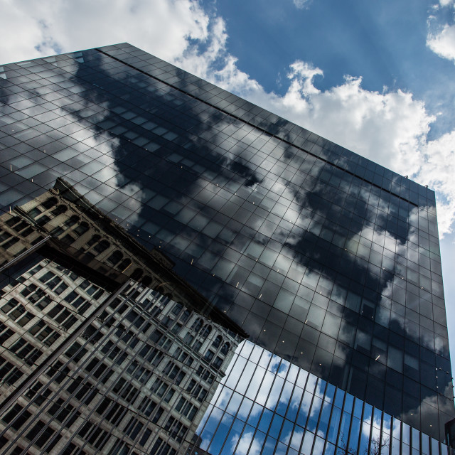 """""""New York Building Reflections"""" stock image"""