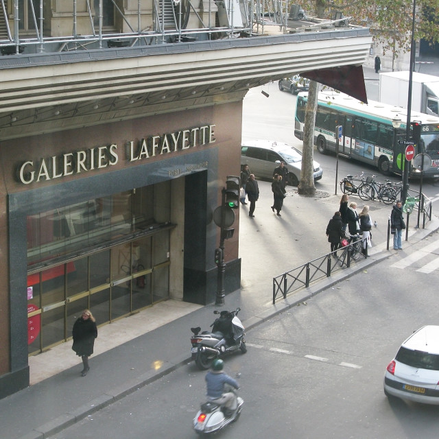 """Galeries Lafayette exterior"" stock image"