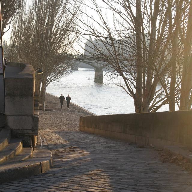 """""""Paris bridge"""" stock image"""