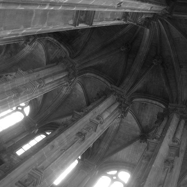 """""""Saint Eustache details"""" stock image"""