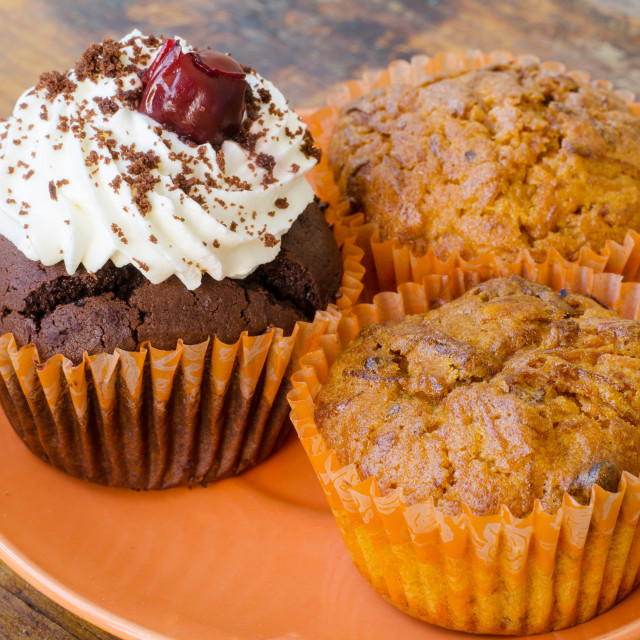 """Chocolate And Lemon Muffins"" stock image"