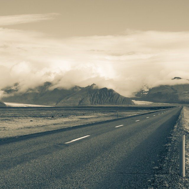 """Iceland Road"" stock image"
