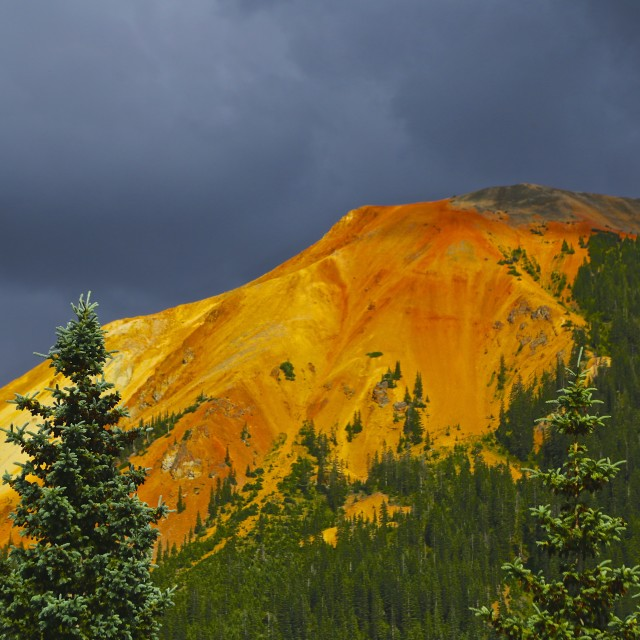 """""""Stormy Red Pass"""" stock image"""