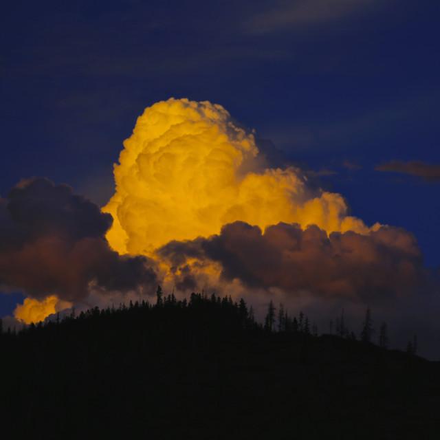 """Stormy Sun Set"" stock image"