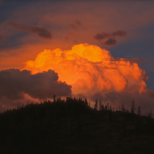 """""""Red Clouds"""" stock image"""