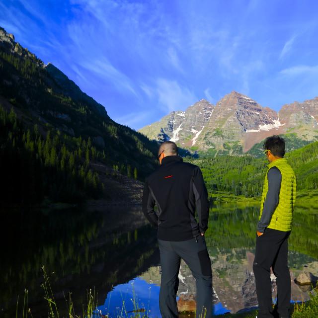 """Maroon Lake"" stock image"