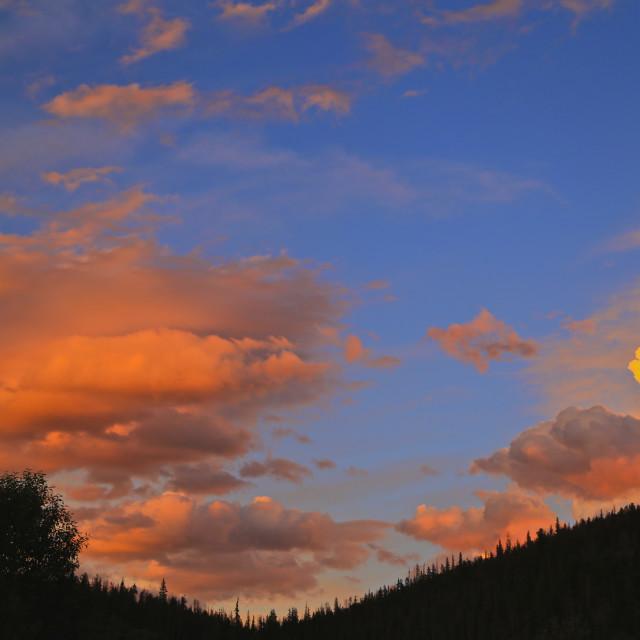 """""""Fiery Sunset"""" stock image"""