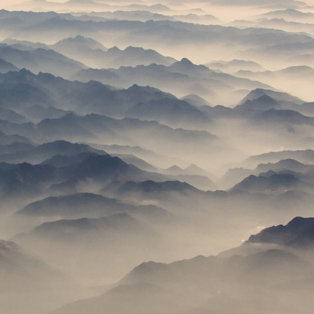 """Misty Mountains"" stock image"