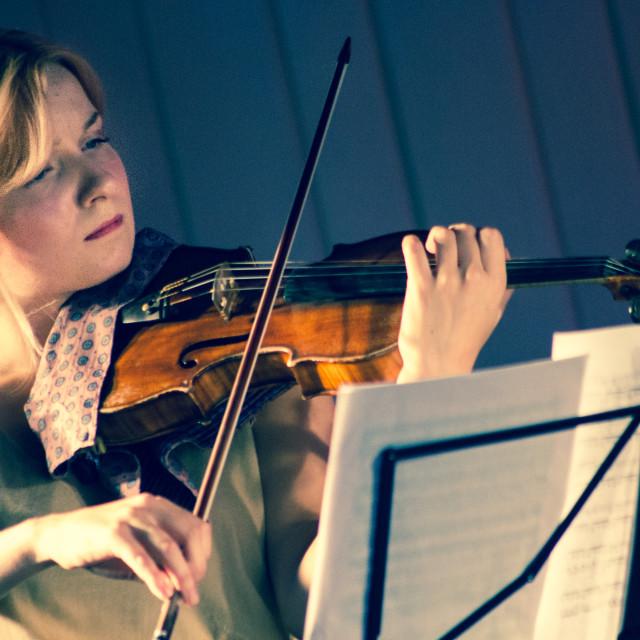"""Viola Player"" stock image"
