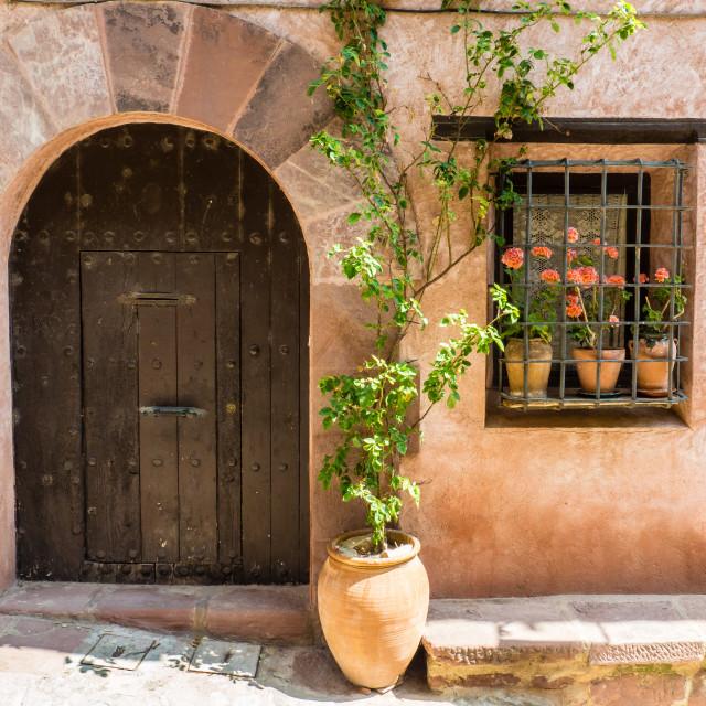 """""""Arched Doorway, Albarracin, Spain"""" stock image"""