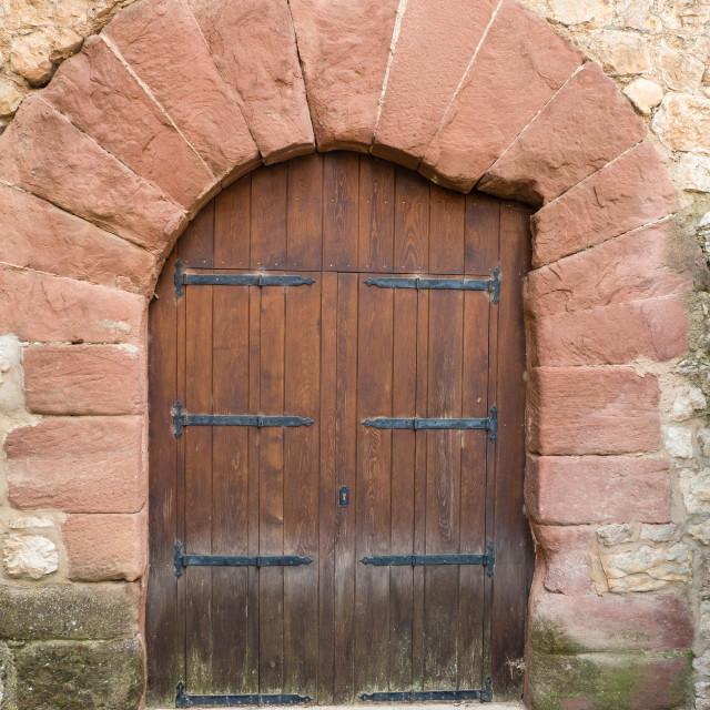 """""""Stone doorway, Albarracin, Spain"""" stock image"""