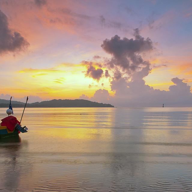 """""""Seascape during sunrise"""" stock image"""