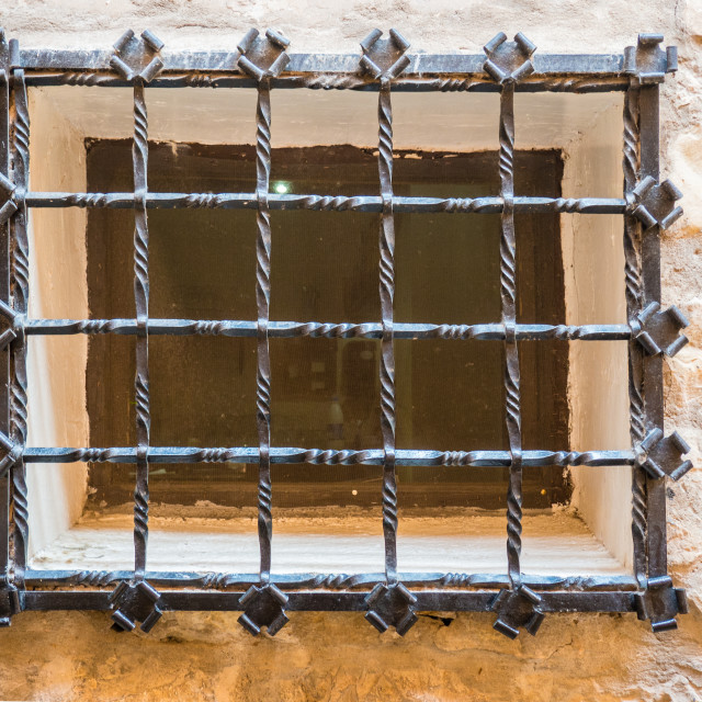 """Window Grille, Albarracin, Spain"" stock image"