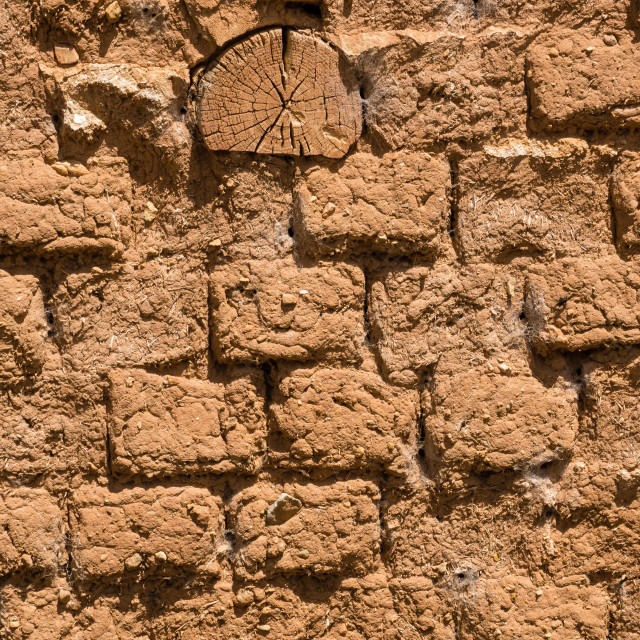 """""""Mud bricks, Spain"""" stock image"""