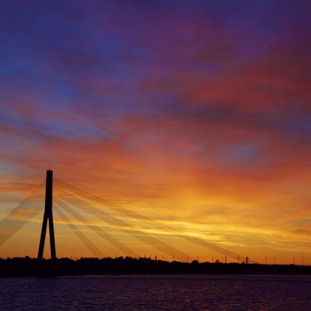 """""""Midnight Sun Sunset"""" stock image"""