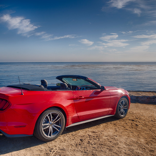 """Pacific Coast Convertible"" stock image"