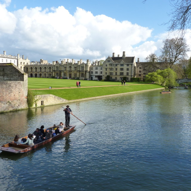 """""""Punting in Cambridge"""" stock image"""