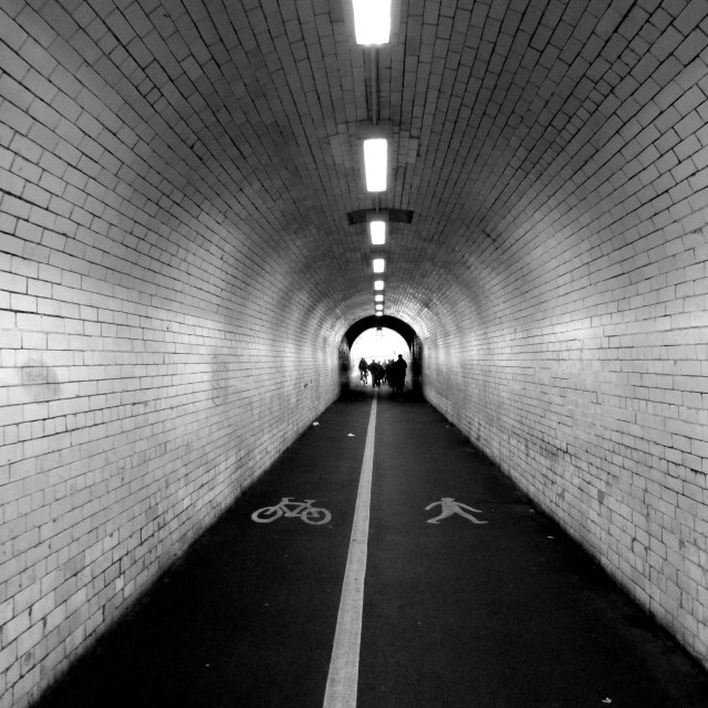 """Tunnel in York"" stock image"