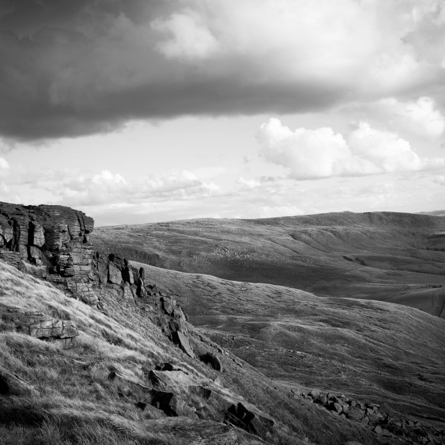 """Kinder Scout And Pennine Way"" stock image"