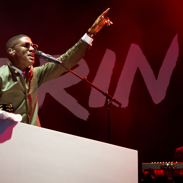 """Labrinth on stage"" stock image"