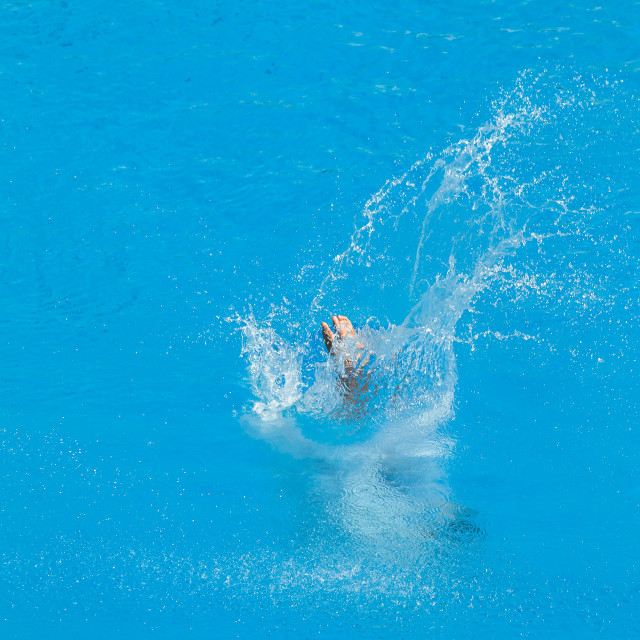 """""""Pool Diving Water Entry"""" stock image"""