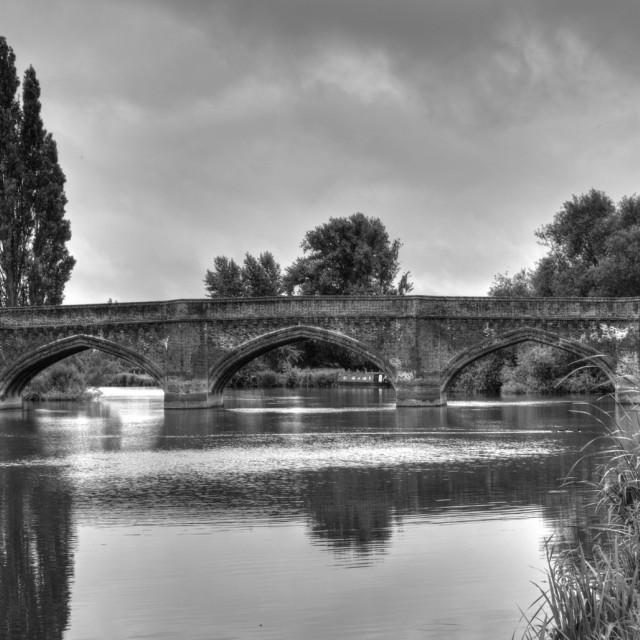 """""""Clifton Hampden Bridge"""" stock image"""