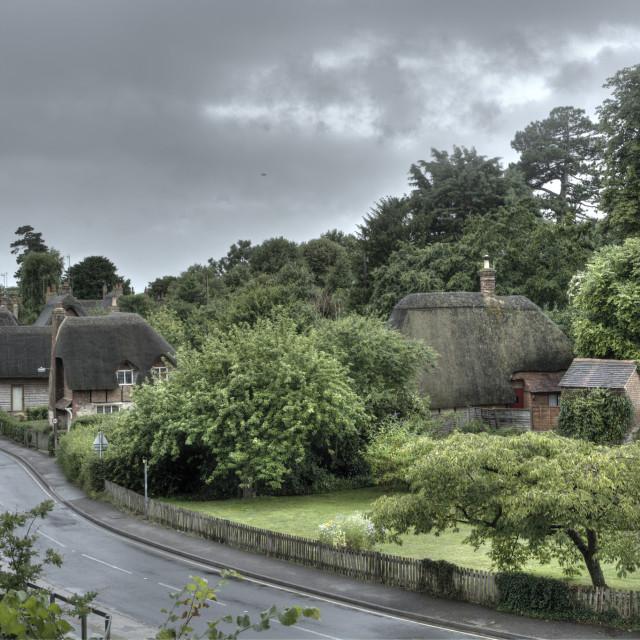 """""""Clifton Hampden village"""" stock image"""