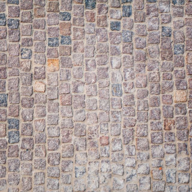 """Cobblestones pavement texture"" stock image"