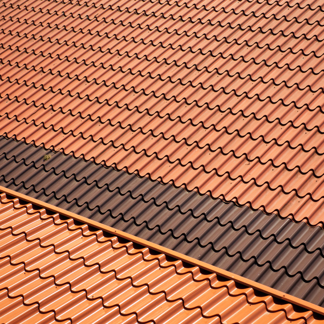 """Metal roof tiles sheet abstract"" stock image"