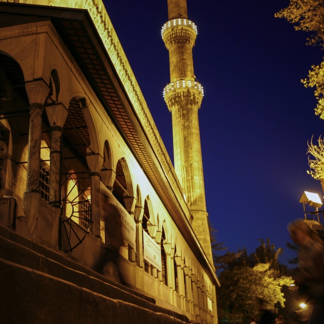 """Suleymaniye mosque in Istanbul, Turkey at night"" stock image"