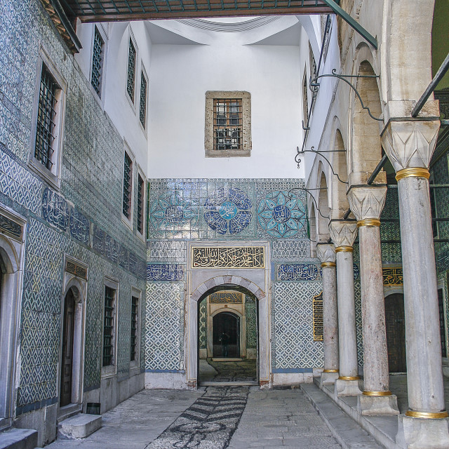 """Hallway in harem of Topkapi"" stock image"