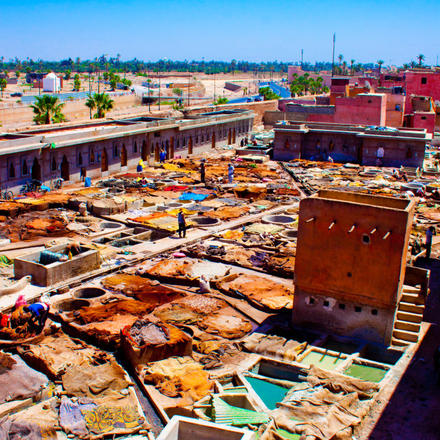 """Marrakesh Tannery"" stock image"