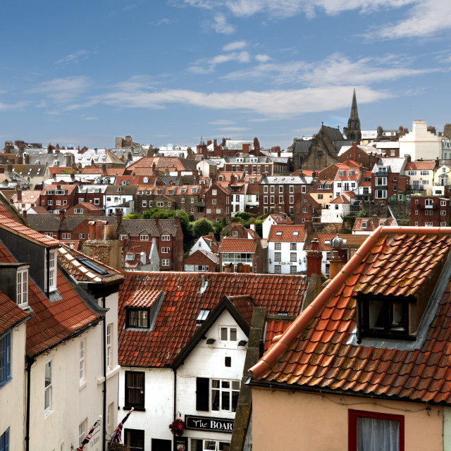 """""""Whitby Roof Tops"""" stock image"""