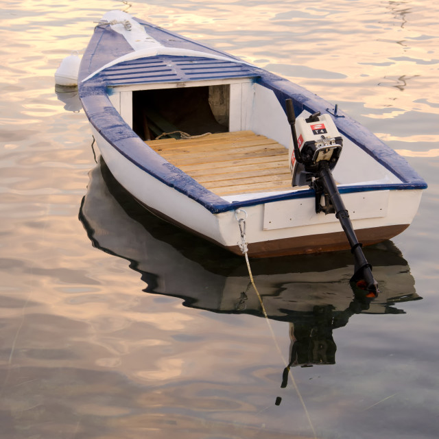 """Anchored boat"" stock image"