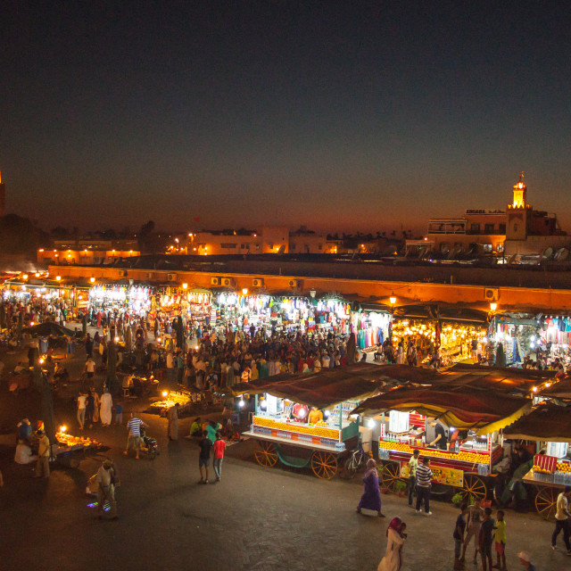 """Marrakesh By Night"" stock image"