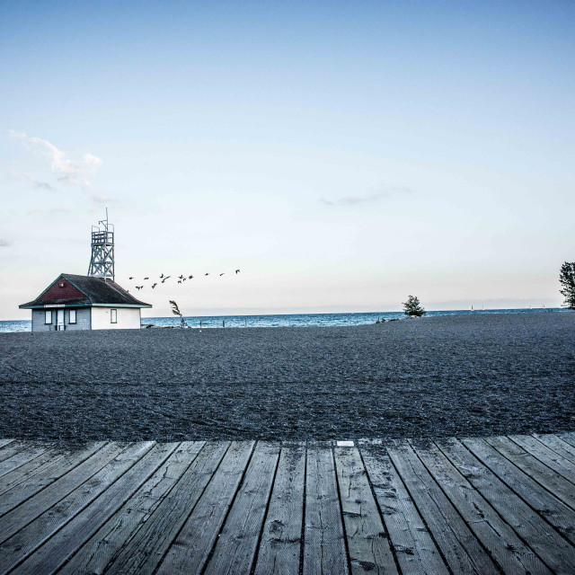 """Leuty Lifeguard Station, Toronto"" stock image"