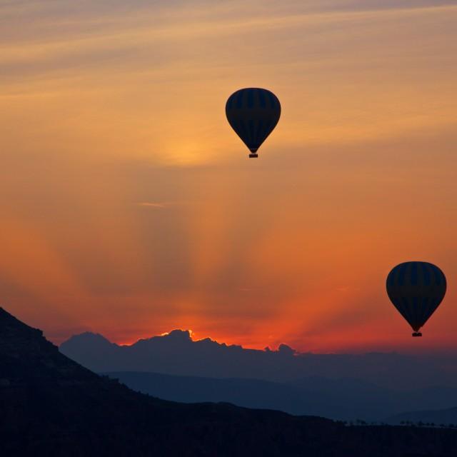 """Kapadokia Dawn"" stock image"
