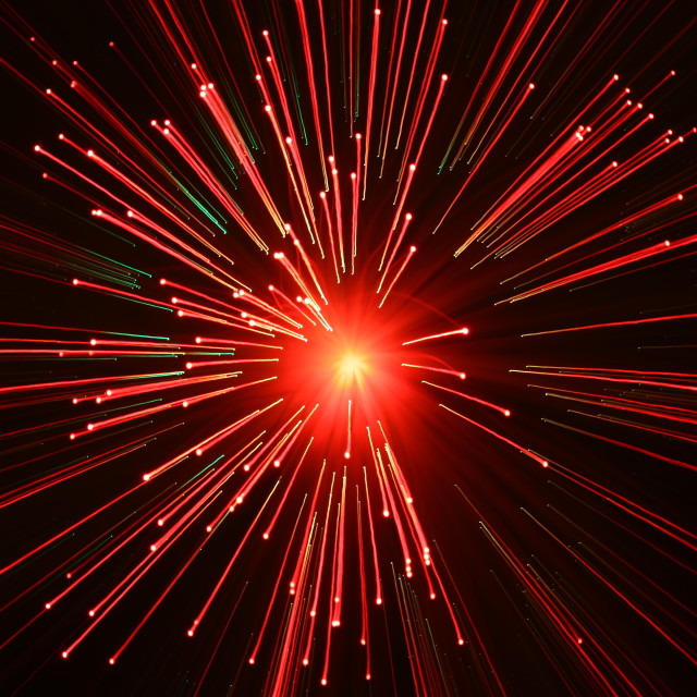"""Fibre optic light pattern"" stock image"