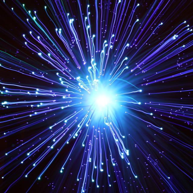 """""""Fibre optic light pattern"""" stock image"""