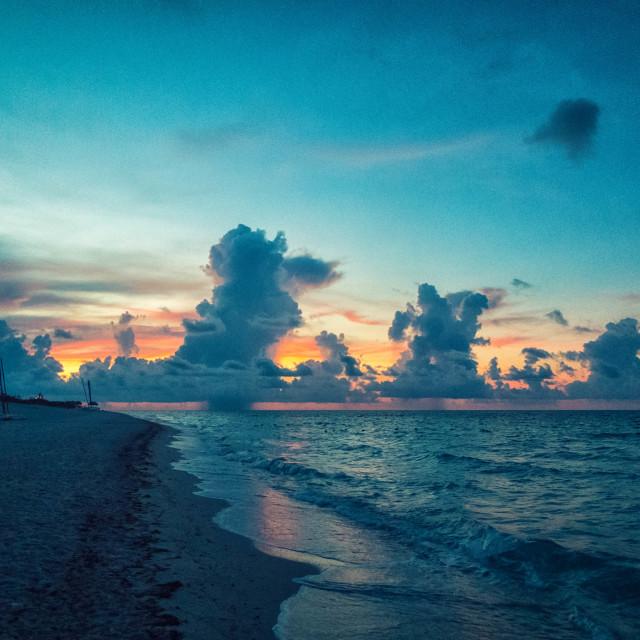 """""""Cuban Sunset"""" stock image"""