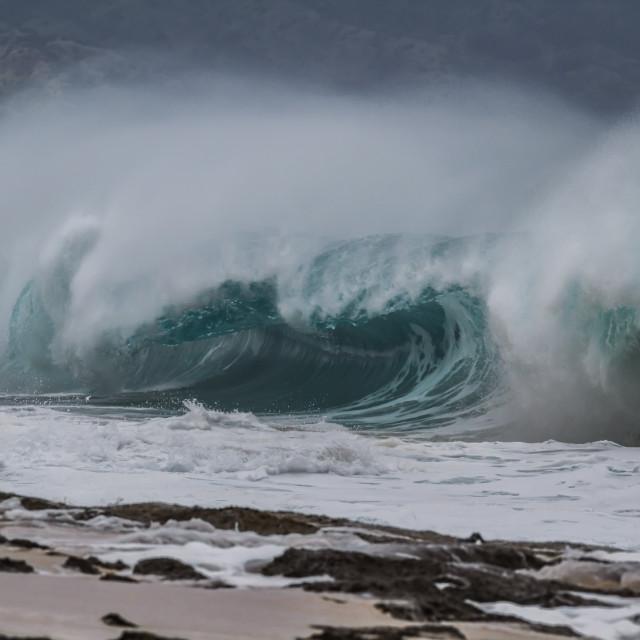 """""""Shore break Ocean Wave"""" stock image"""