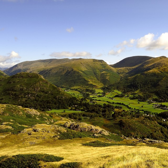 """Grassmere valley"" stock image"
