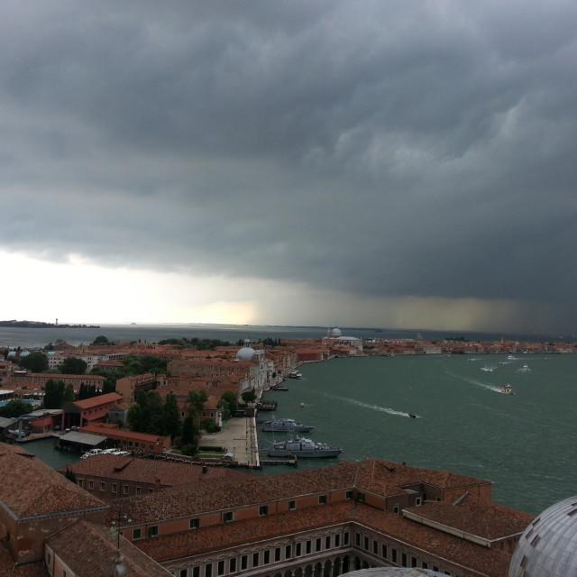 """Storm in Venice"" stock image"