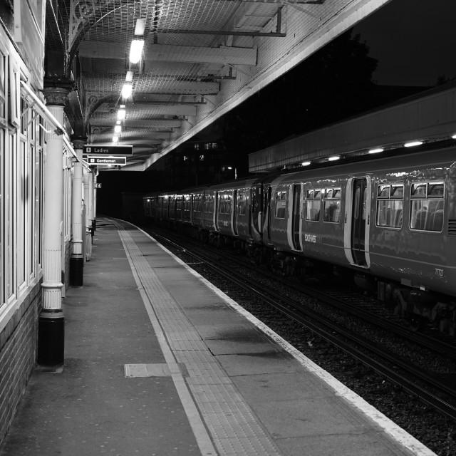 """Waiting At The Platform"" stock image"