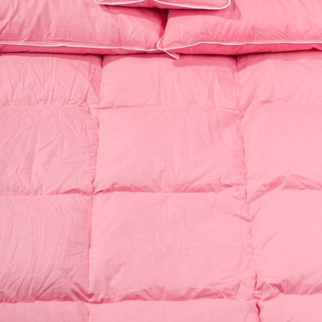 """pillows on quilt"" stock image"